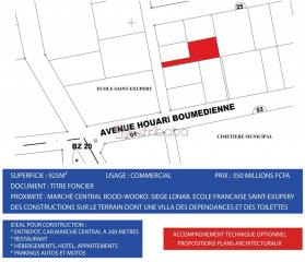925m2 vers le marché central rood-wooko