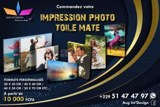 Impression toile photo mate