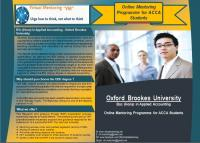 Quality Mentoring  Services for OBU  RAP for ACCA Students