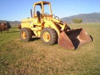 BOB CAT / FRONT END LOADER AT PLATINUM MINES SCHOOL SOUTHAFRICA