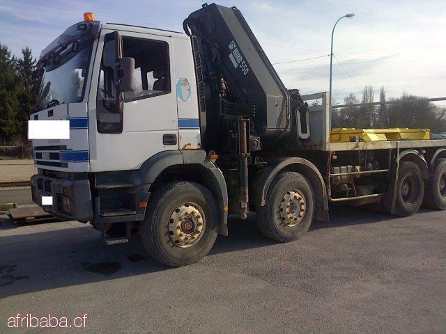 IVECO 340 PLATEAU CONTAINER 20 PIEDS GRUE 55 T #1