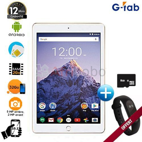 "Tablette g-tab p "" -32go hdd - 2go ram + montre connectée #1"