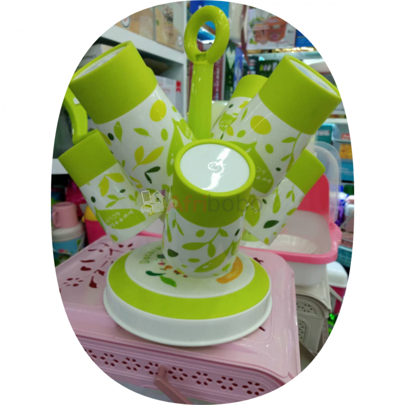 8 pics cup with cup holder