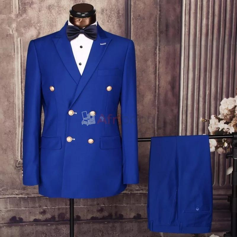 Costumes hommes Double boutonnage Azul #1