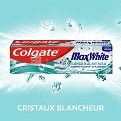 Lot de 3  dentifrices colgate max cristaux white blancheur - 3 x 75 ml