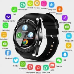 V8 montre intelligente hommes bluetooth