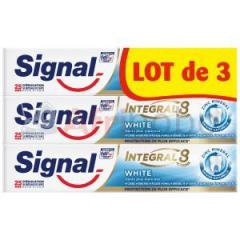 Lot de 3 signal dentifrice integral 8 white - 75ml