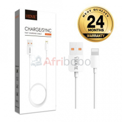 Cable usb haute qualite fast charge pour iphone - 1m - blanc