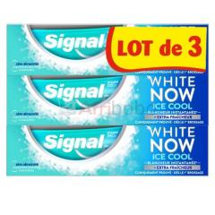 Lot de 3 dentifrices signal white now ice cool - 75ml