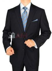 Gino valentino 2 piece men's suit 2 button jacket flat front pants