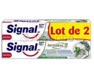 Signal integral 8 dentifrice nature elements bicarbonate fraîcheur & detox lot de 2