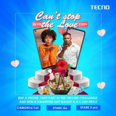Tecno can't stop the love: tente de gagner 200 000f