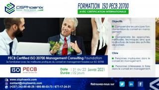 Management consulting foundation, iso pecb 20700