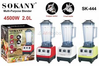 Blender commercial heavy duty  sokany 2l à 7 vitesses - 4500w