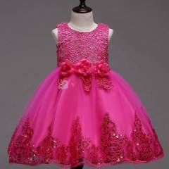 Robe princesse rose bonbon