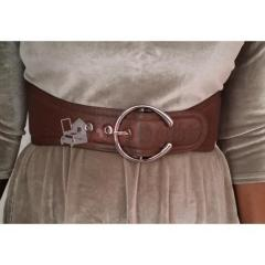 Ceinture large marron