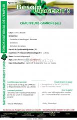 5 chauffeurs camions
