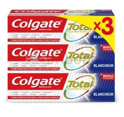 Lot de 3 dentifrices total blancheur - 75 ml