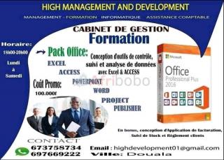 Formation Microsoft Office (Excel, word, Access, PowerPoint)