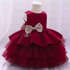 Robe princesse 3 étages rouge