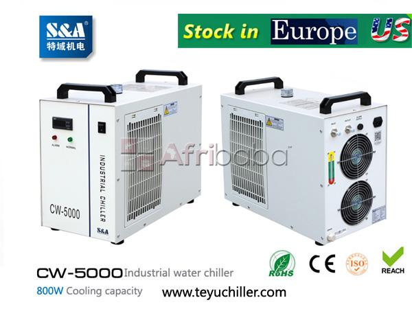 S&a cw-5000 water chiller for cooling dental cnc engraving machine #1