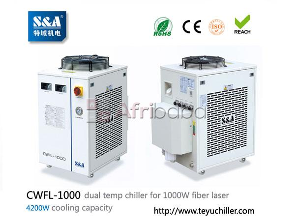 S&a chiller cwfl-1000 for cooling 1000w fiber laser cutting machine #1