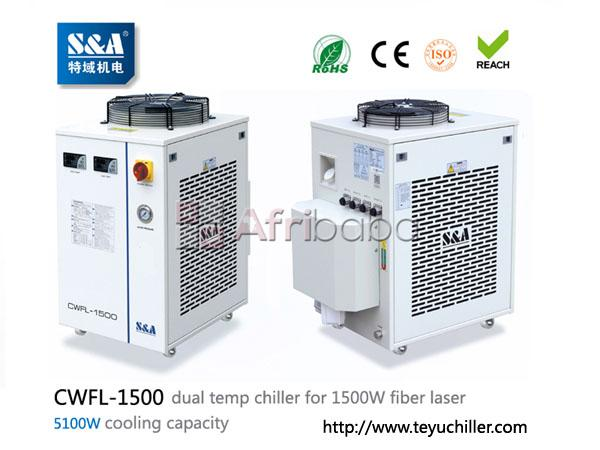 S&a water chiller cwfl-1500 for cooling 1500w metal fiber laser machin #1