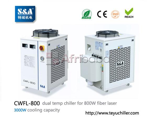 S&a laser chiller cwfl-800 for cooling 800w fiber laser cutting machin #1