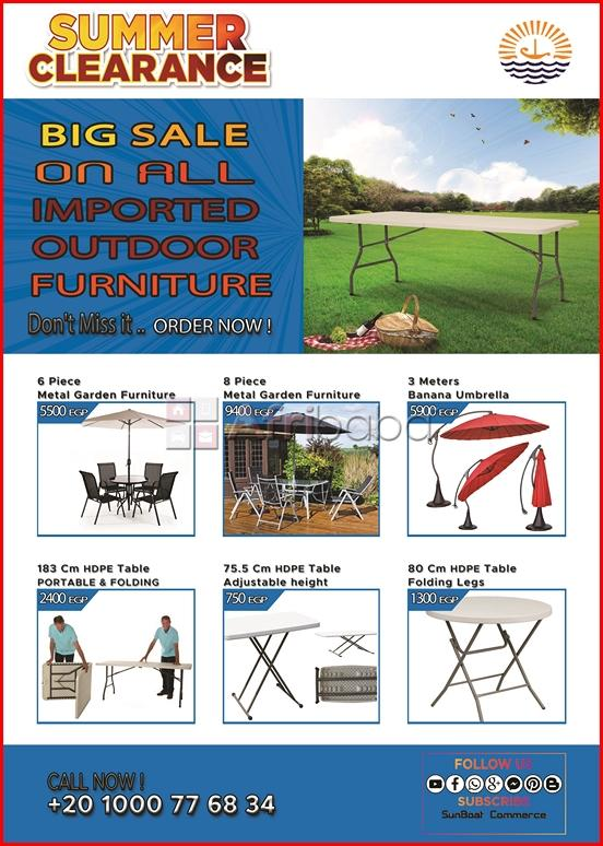 Outdoor furniture for sale in egypt