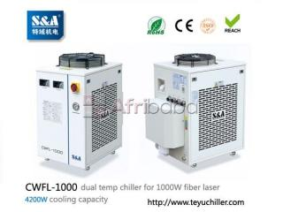 S&a chiller cwfl-1000 for cooling 1000w fiber laser cutting machine