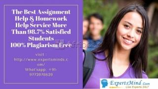 High Quality Assignment Help and Homework Help  At Expertsminds!
