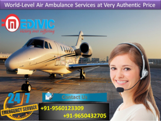 Now Select Perfect ICU Charter Air Ambulance from Bangalore by Medivic