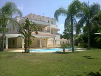 Rent villa with big garden & pool inside compound at 6 October City