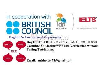 Buy IELTS-TOEFL Certificates without Taking Test/Exam