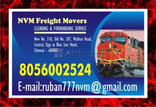 Nvm freight movers | 8056002524 | rs. 7 per kg | rly. clearing & forwarding