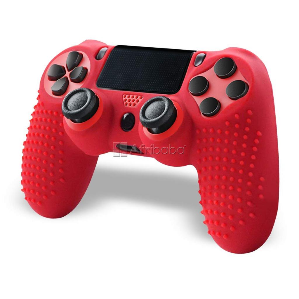 Anti-slip grip silicone ps4 controller - red #1