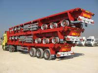 FLATBED TRAILER - Flat transport de conteneurs
