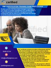Pmp certification exam preparatory course in ghana | certified ghana