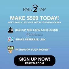 Paid2tap - make $500 today for free!!!