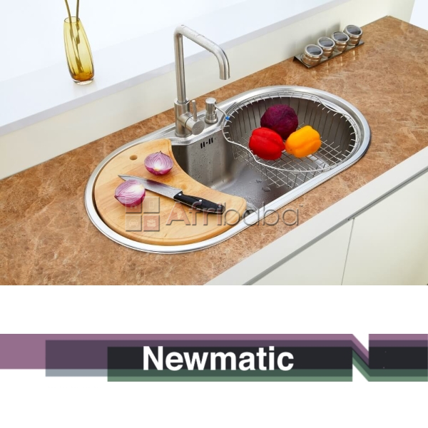 Newmatic Spring 86 Ultra Deep Bowl Kitchen Sink Complete #1