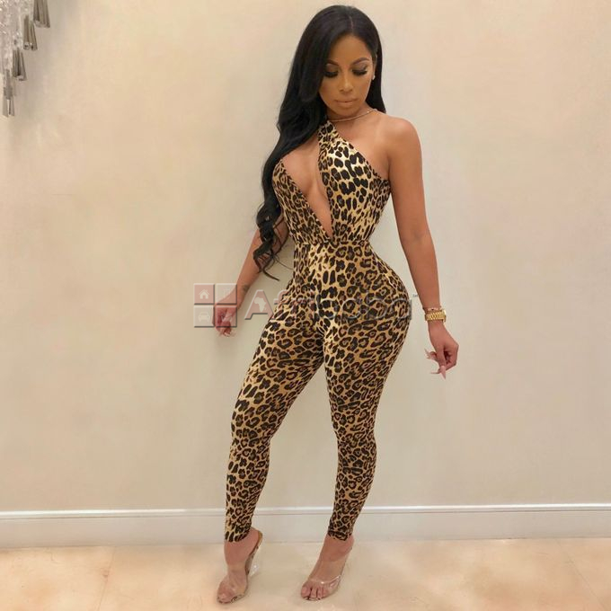 Leopard Jumpsuit-Casual-Formal Wear-Party,Clubbing #1