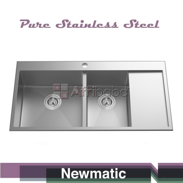 Newmatic Double 100 Handcrafted Kitchen Sink #1