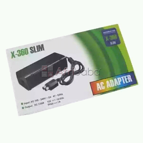 Xbox 360 slim 2 pin ac 240v adapter