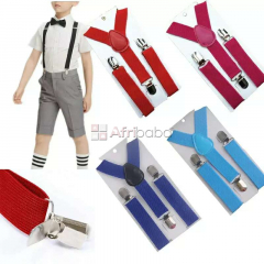 High Quality Children Suspenders-Clip-on Y-back,Kids Suspenders