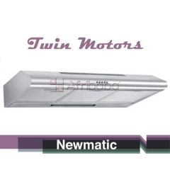 Newmatic H17.9X2 Undermount Chimney Slim Hood