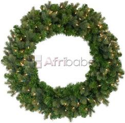 60Cm Green Christmas Wreath, 170Tips