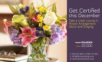 UP TO 40% DISCOUNT ON OUR FLOWER ARRANGEMENT, DRAPING &DECOR COURSE