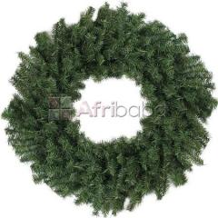 60Cm+130Tips Green Wreath In Opp Bag
