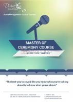 MASTER OF CEREMONY COURSE