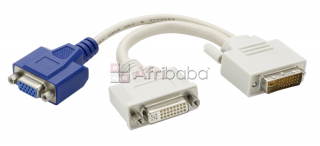 Dual monitor dvi splitter y-cable dvi-i to dvi-d and vga
